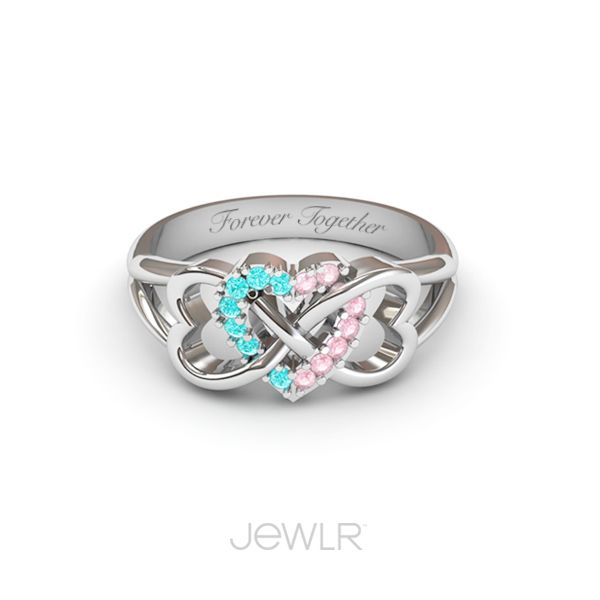 sterling silver infinity ring with genuine