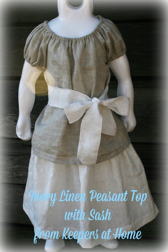 Girls Peasant top from Keepers at Home by KeepersAtHome10 on Etsy