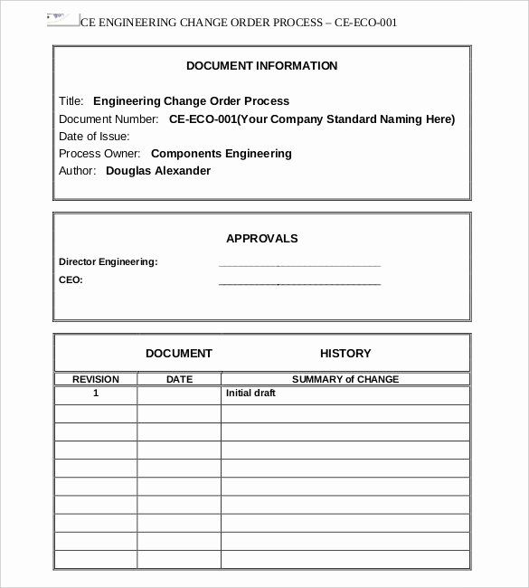Change Order Template Excel Best Of 16 Change Order Templates Word Pages Reference Page For Resume Change Proposal Templates