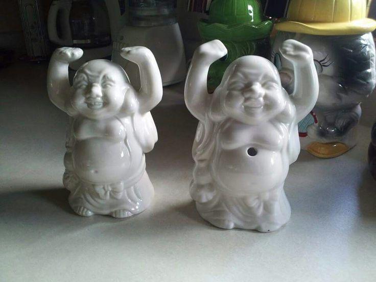 Buddha wonder twin powers active! Two Benihana drink mugs also scored today...