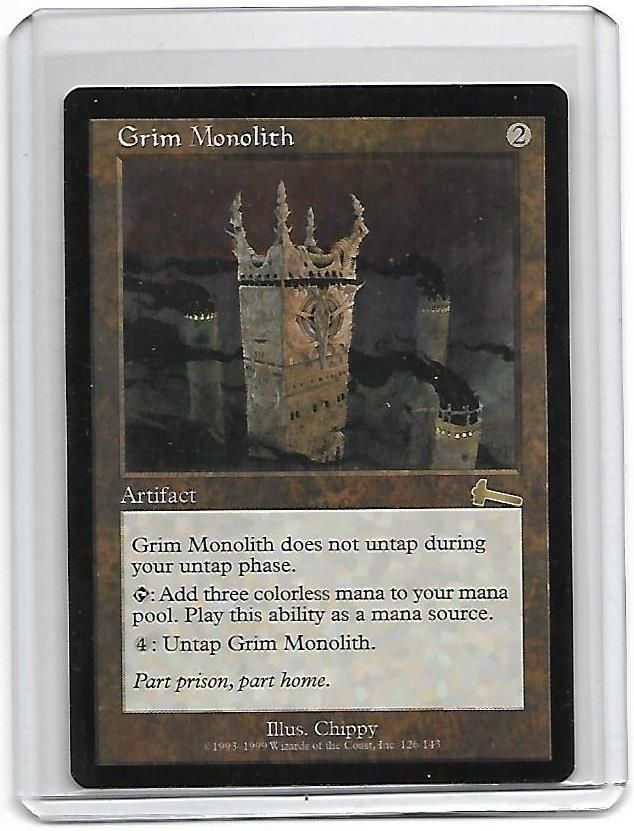 Magic The Gathering Grim Monolith Urza's Legacy NM MTG Rare #WizardsoftheCoast