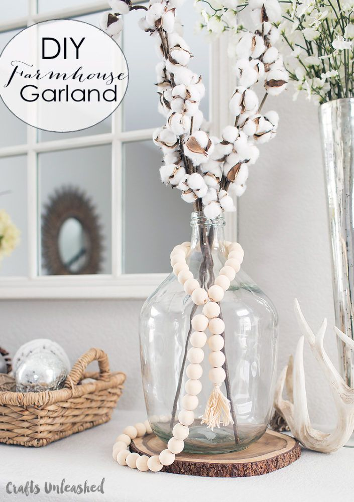 Diy Wood Bead Garland Farmhouse Style Consumer Crafts Tassels