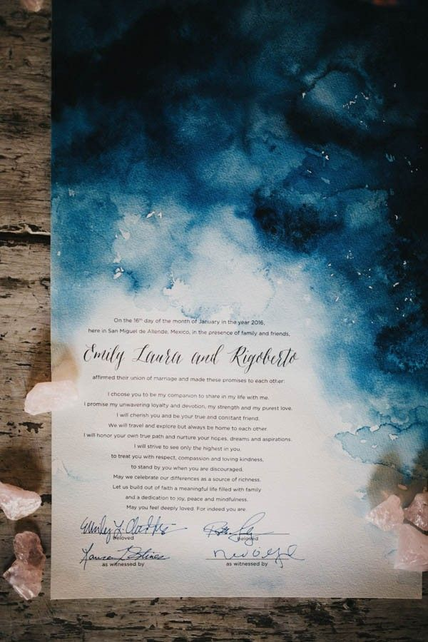 Gorgeous watercolor marriage certificate - perfect for framing | Image by Blest…