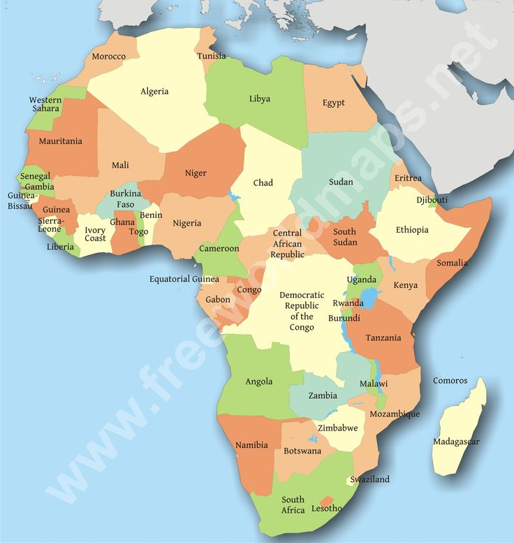 Countries of Africa Map Quiz - Sporcle