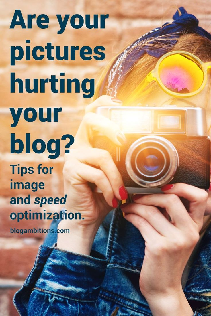 You know that having quality images is an essential part of blogging. But what if those pictures are hurting your blog? Make sure you're saving your pictures right.