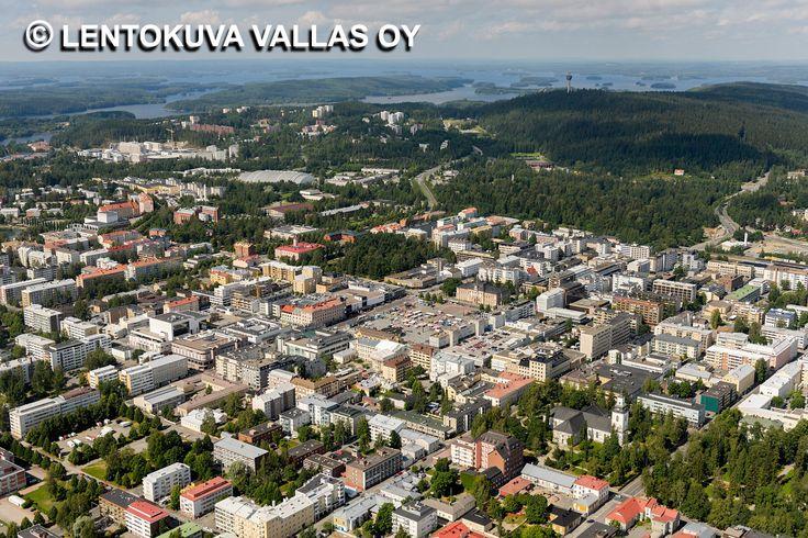 Kuopion kaupungin keskustaa Ilmakuva: Lentokuva Vallas Oy
