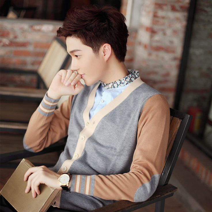 2016 Autumn/WinterKorean Burst Sweater Men's Sweater Coat Thin Sweater Cardigan Mens Long Cardigan Knitted Wool Cardigan Tops