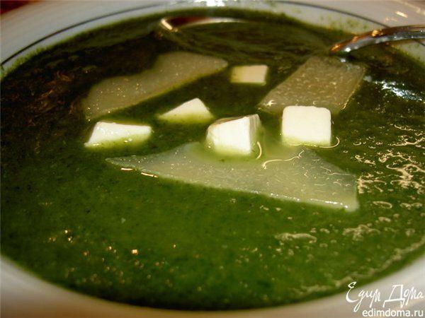 суп зеленый шелк
