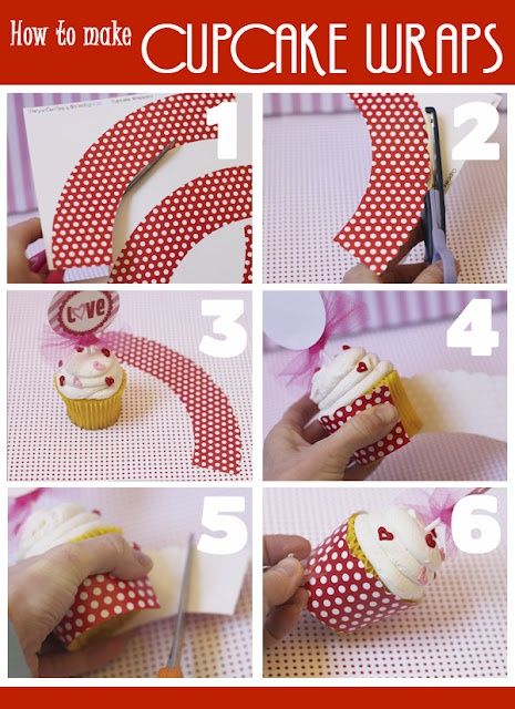 this webpage has a cupcake wrapper template-- use with any scrapbook paper!