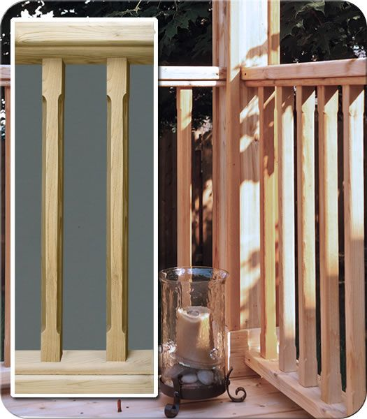 Eased Wood Railing| Fence-All