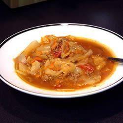 Soupe au chou et au bœuf, à la russe