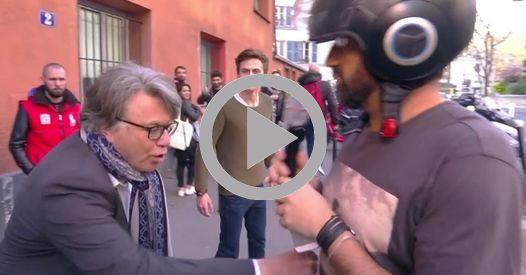VIDEO - Devant les studios de Touche pas à mon poste, Cyril Hanouna a croisé Gilbert Collard qui l'avait insulté quelques jours auparavant...