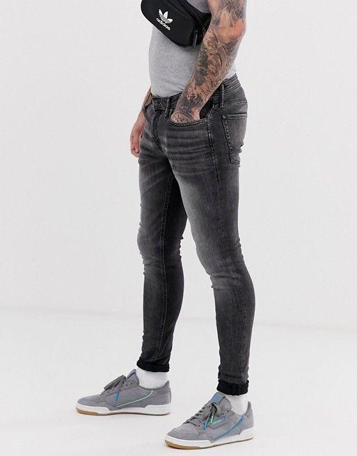 traditore profondamente Conformità a  Jack & Jones spray on skinny jeans in washed black | ASOS | Black jeans  men, Skinny jeans, Jack jones