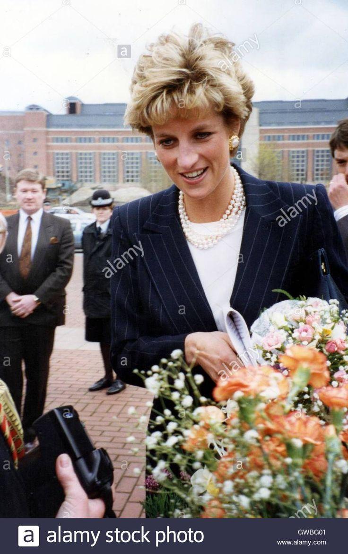 April 7 1993 Princess Diana visits West Yorkshire Playhouse Theatre, Leeds