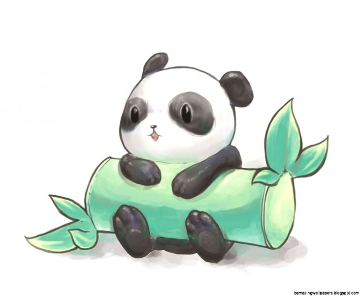 Cute Panda et bambou [cartoon ✏ drawings] ~ Stock.jpg (1373×1128) ~ [♥_KaWaii_♥]