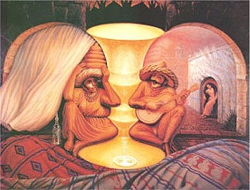 This is a fun piece of artwork by Octavio Ocampo!  Look closely what do you see??  There's more to see than you think!