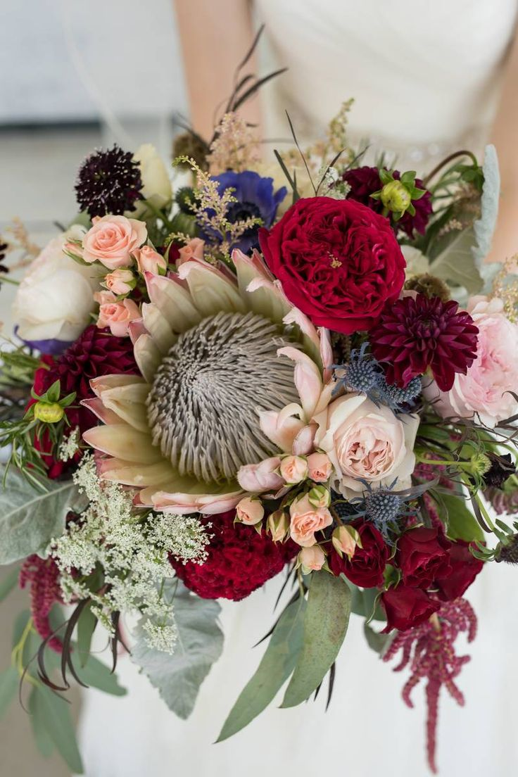 king protea bouquet RUSTIC MINIMAL SOPHISTICATED