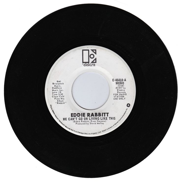 Eddie Rabbitt. We Can't Go On Living Like This / We Can't Go On Living Like This