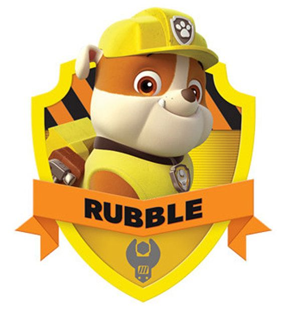 Characters for download. Paw Patrol rubble  prints great for cards and iron on