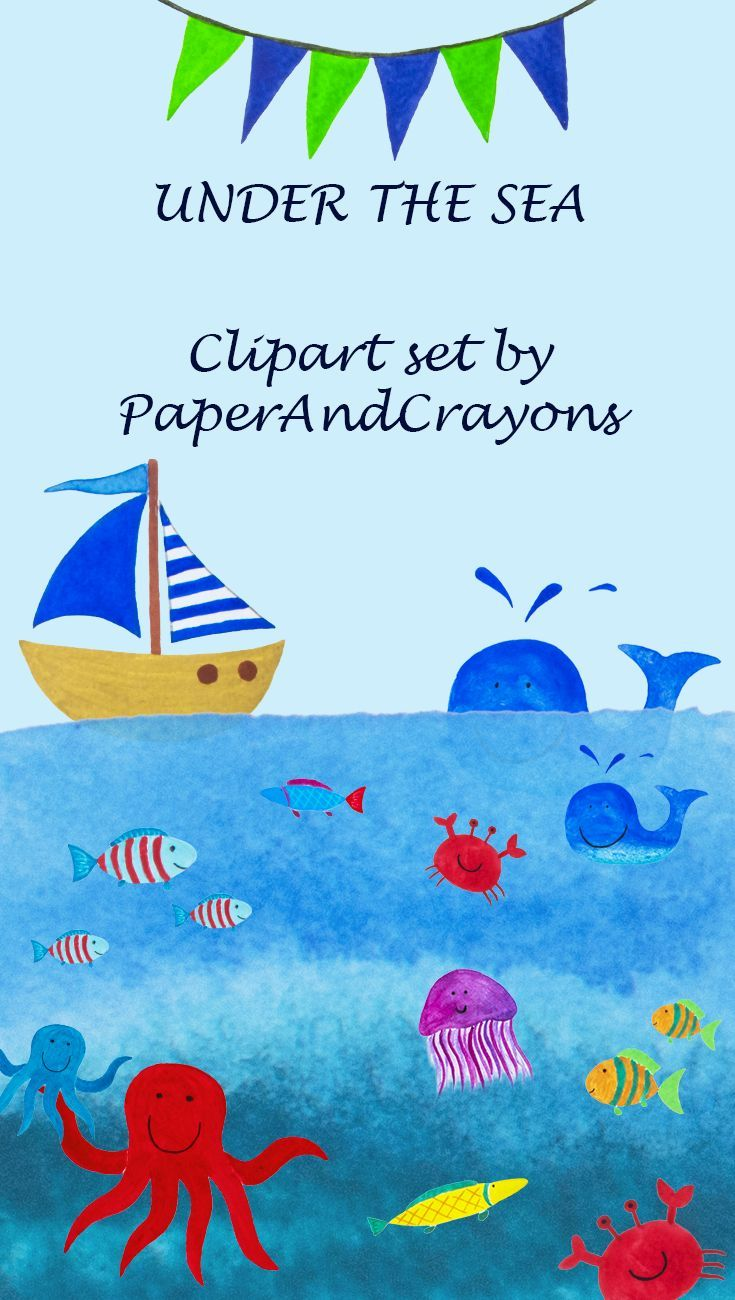 under the sea clipart, nautical watercolor clipart, watercolor clipart, summer set clipart, sea clipart, marine clipart, boat clipart, nursery clipart, commercial use, instant download, lighthouse clipart, clip art, graphic design, whale, seafish, crab, PaperAndCrayons, #watercolorclipart, #clipart, #sea, #summer