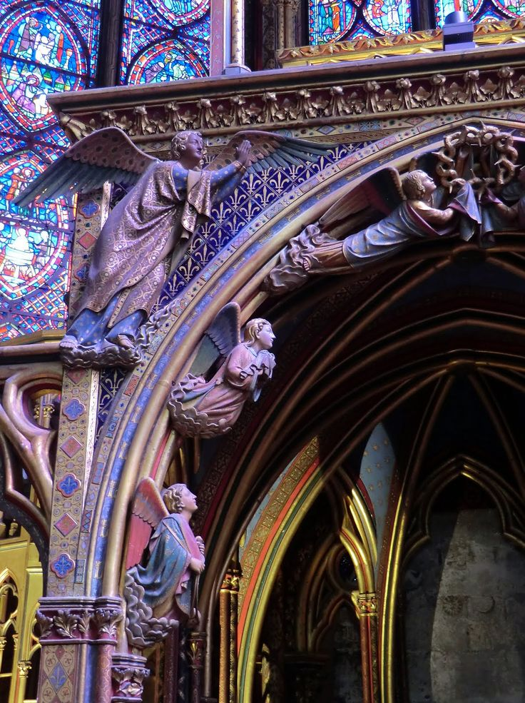 Absolutely magnificent! Paris, Sainte Chapelle, Entry, Stained Glass