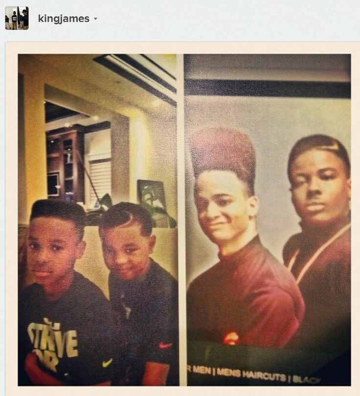 """From Lebron James (@KingJames)'s Instagram: """"LeBron James gave his boys Kid 'n Play haircuts"""" <--- LOVE this!!!!"""