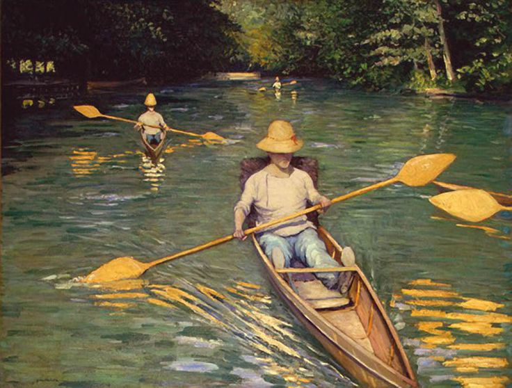 Scolls -- Gustave Caillebotte, Impressionism. One of my favorites. I love the way he shows light. Perfection.