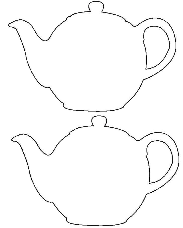 Tea Party Tea Pot Template/Pattern - INVITE TEMPLATE :)
