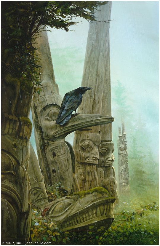 alan-and-john:    Winter of the Raven by John Howe    Architecture & Fantasy | John Howe | 177