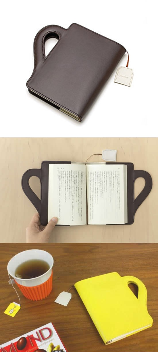 Book cover with teabag bookmark!