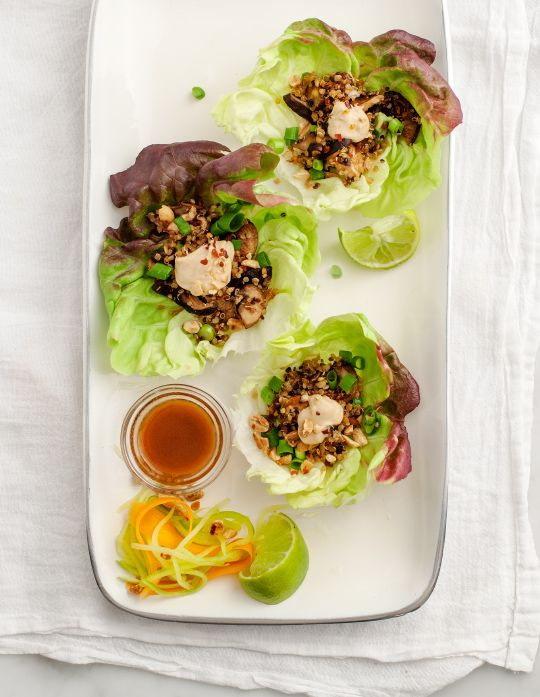 mushroom & quinoa lettuce wraps / loveandlemons.com