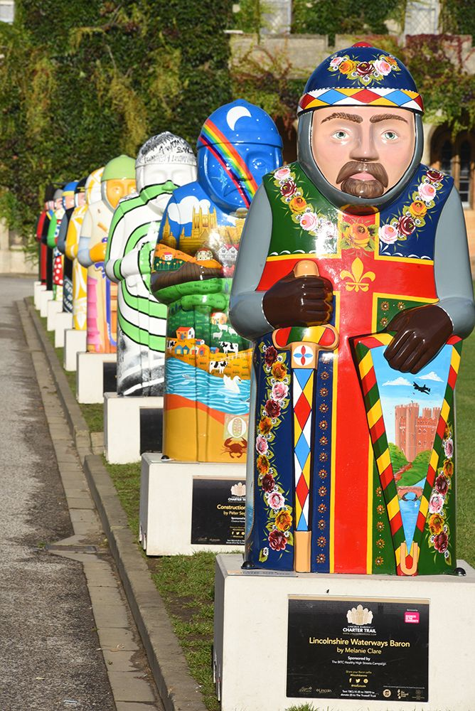 All 25 of the #LincolnBarons have been reunited at Lincoln Castle for 6 days. More at http://visitlincoln.co/1PbFXq4.