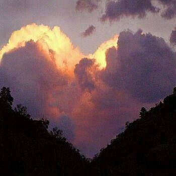 Heart Shaped Cloud Formation