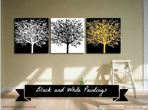 Black and white paintings #home #decor