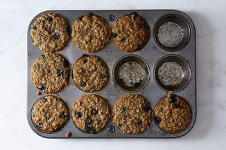 Blueberry, Oatmeal and Flaxseed Muffins Recipe on Food52, a recipe on Food52