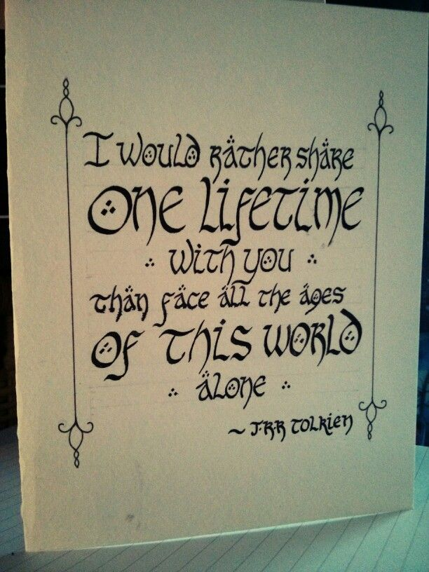 Lord of the Rings Card, hand lettering, calligraphy