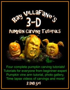 Ray Villafane 3D Pumpkin Carving Tutorials -  - Learn more about this unique form of pumpkin carving that is perfect for Halloween here: http://www.vegetablefruitcarving.com/ray-villifane-pumpkin-carving-dvd/