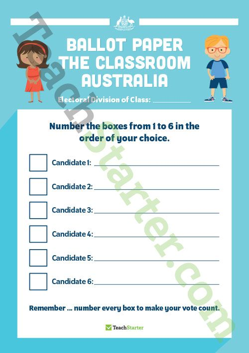 Class Election Templates Teaching Resource