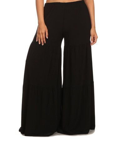 Look what I found on #zulily! Black Palazzo Pants - Plus #zulilyfinds $36.99