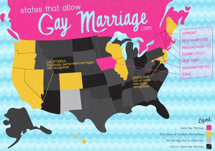 Current states that allow gay marriage