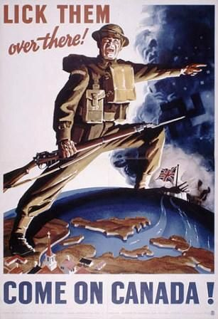 Canadian World War II Posters Gallery: Lick Them Over There - Canadian World War II Poster
