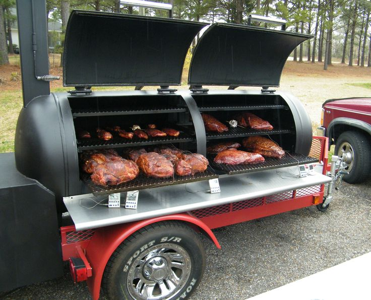 The first cook on the smoker my hubby built.