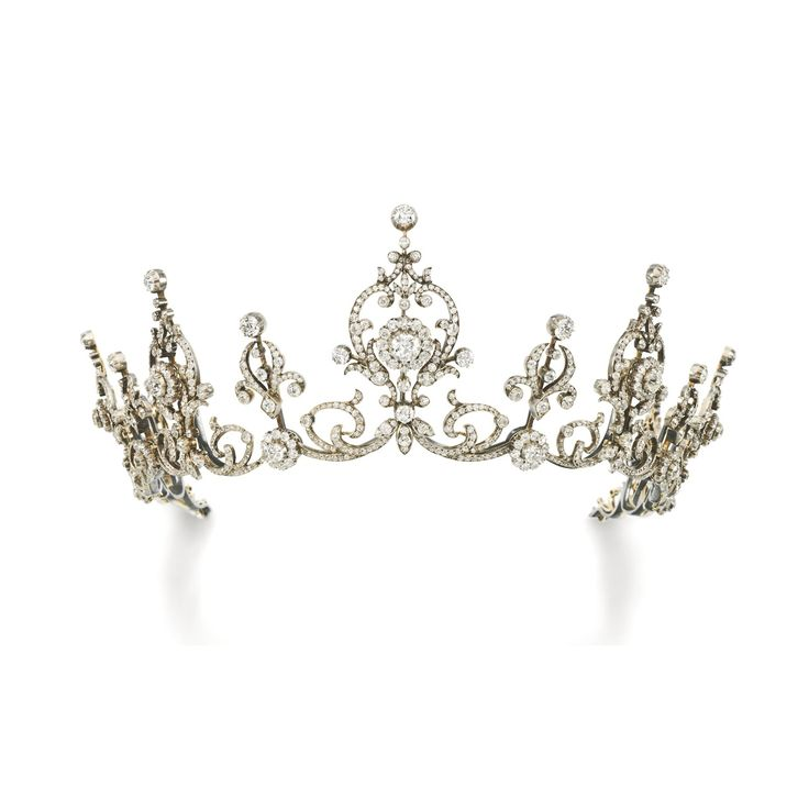 Diamond tiara. Circa 1900s  Via Sothebys. - for when they finally tell me I'm a princess of some land never heard of lol!