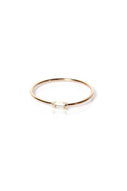 "20 Minimalist Engagement Rings That Scream ""I Do"" #refinery29  http://www.refinery29.com/minimalist-engagement-rings#slide-15  A minimal ring for a minimal price.Zoe Chicco Single Baguette Diamond Ring, $330, available at Stone & Strand...."