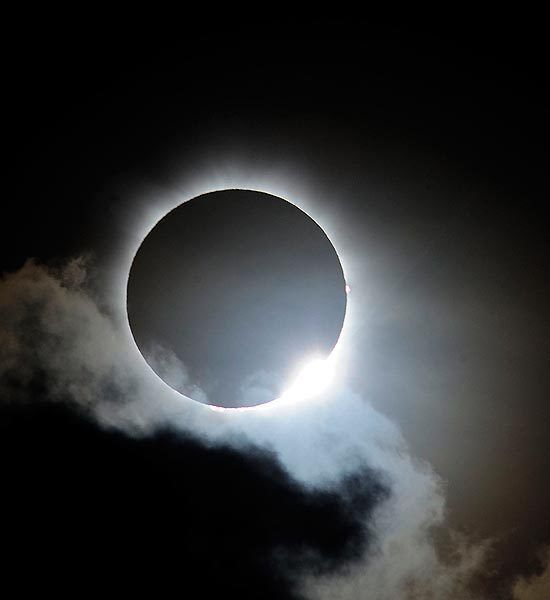 The solar eclipse captured Nov. 14, 2012 in Palm Cove, Australia