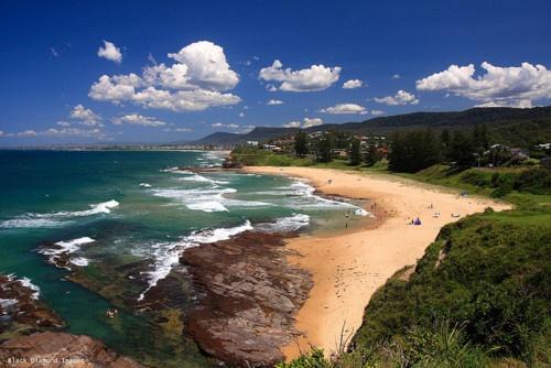 Austinmer beach near Wollongong, NSW Australia