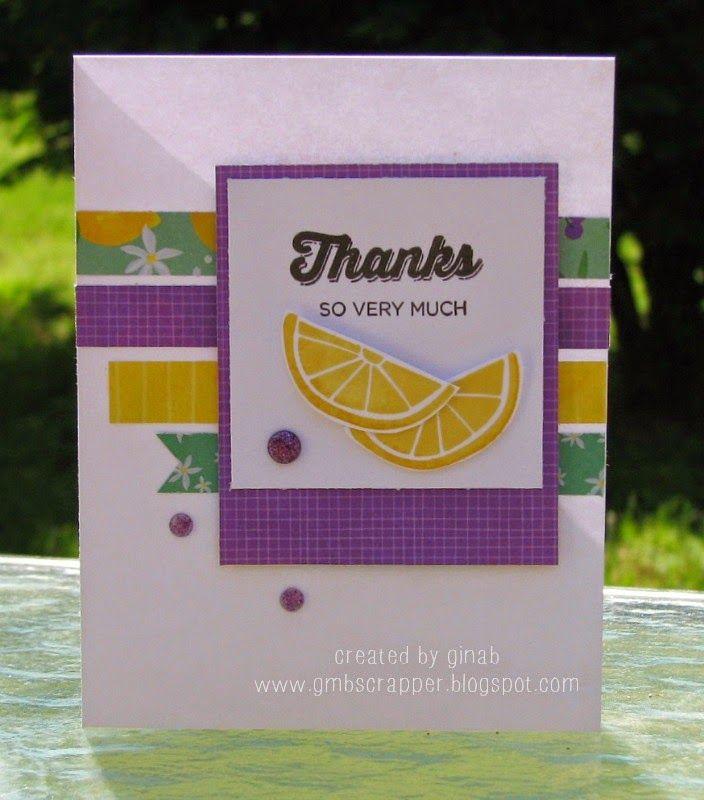 Gina's Little Corner of StampinHeaven: Taste of Summer - Thanks so Very Much  #CTMHTOS
