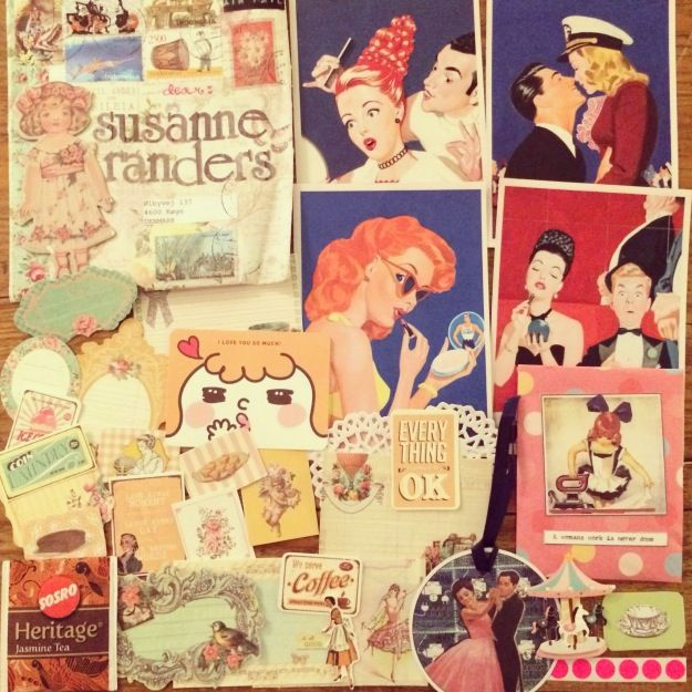 365 mood boards in 2014. Mood board #60: Vintage paper swap from Indonesia. Smashup. Photographer: Susanne Randers