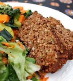 Lentil & Rice Loaf: This flavorful loaf is perfect for the holidays, or anytime you want a hearty main dish. It can be made with fresh or dried herbs. (vegan)