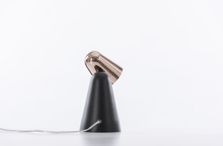 PEPPONE Table Lamp in Black-Copper from behind. Available in many different colors at www.formagenda.com